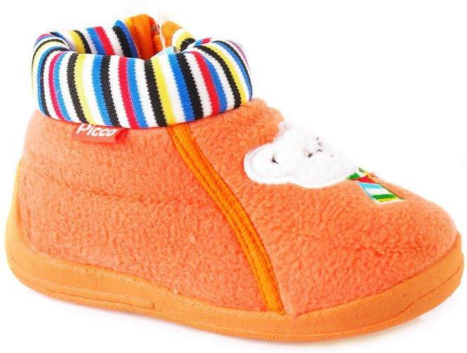 Picco Pomaranczowe Z Misiem Dzieciece Papcie Outlet Azbuty Pl Buty Od A Do Z