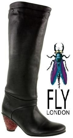 Fly London Mia black (RED HEEL)