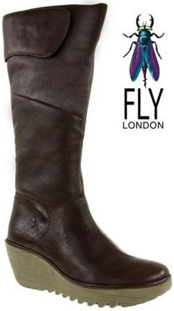 Fly London Yule dk brown
